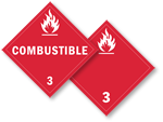 Class 3 Combustible Placards