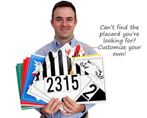 Customized Preprinted HazMat Placards