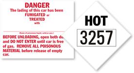 Elevated Temperature Placards