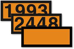 Orange Panel Number Placards