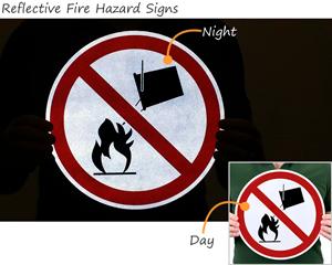 Reflective Fire Hazard Symbols