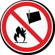 Apply No Water Military Hazard Symbol Label