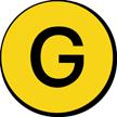 Military Chemical G-Type Nerve Agent Hazard Symbol Label