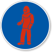 Wear Red Full Protective Clothing Military Hazard Label