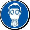Wear Breathing Apparatus Military Hazard Symbol Label