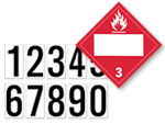 Blank 4-Digit DOT Hazmat Placards and Kits