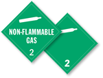 Class 2 Non-Flammable Gas Placards