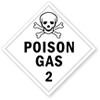 Class 2 Poison and Toxic Gas Placards