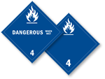 Class 4 Dangerous When Wet Placards