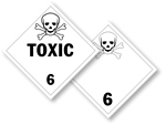 Class 6 Poison and Toxic Placards