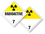 Class 7 Radioactive Placards