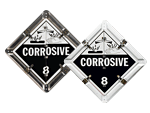 Flip-n-Lock™ Corrosive Placards