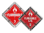 Flip-n-Lock™ Flammable Placards