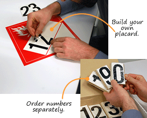 Blank DOT 4-Digit Placards and Kits