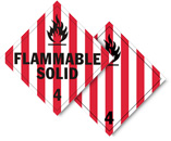 Class 4 Flammable Solid Placards