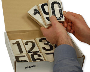 Numbers for Placards