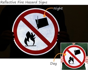 Reflective Fire Hazard Symbols