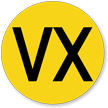 Military Chemical VX-Type Nerve Agent Hazard Symbol Label