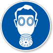 Wear Breathing Apparatus Military Hazard Symbol Label