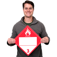 Class 3: Blank Combustible Placard