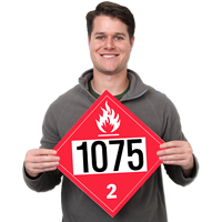 UN1075 Petroleum Dot Placards