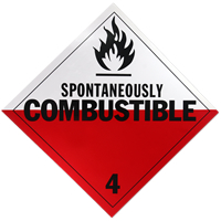 Spontaneously Combustible Placards
